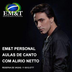 Aulas de canto com Alirio Netto na EM&T