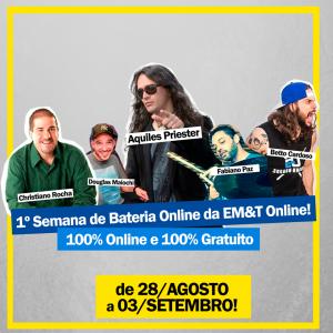 1ª Semana de Bateria e Áudio da EM&T Online! – 100% Gratuita!