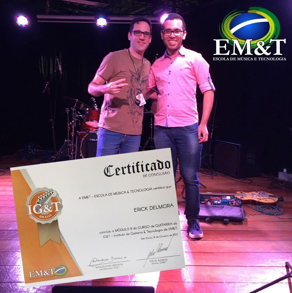 certificado EM&T para alunos de licenciadas