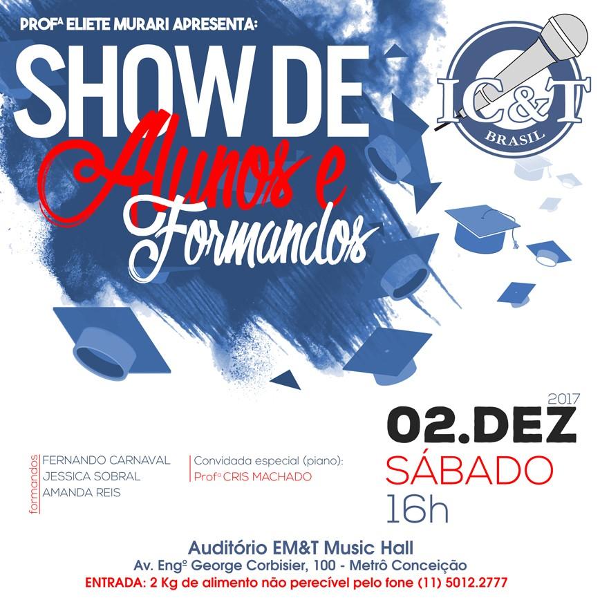 Show de alunos e formandos de canto