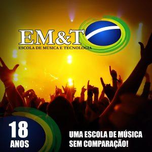 EM&T 18 anos: Uma escola de música sem comparação