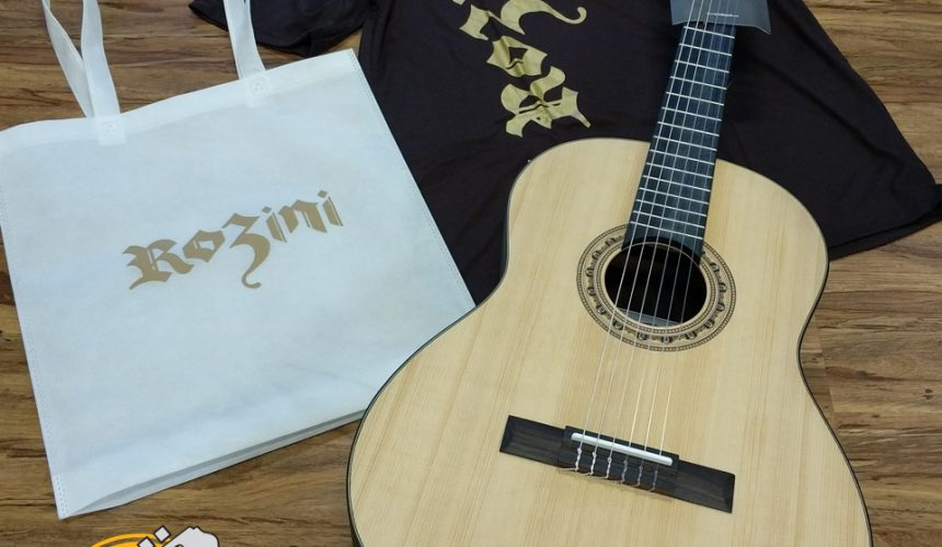 Sorteio de violão: para selar a parceria EM&T + ROZINI