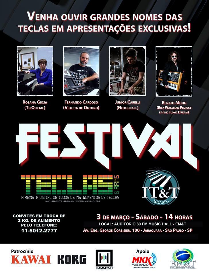 Festival Teclas & Afins 2018 acontece dia 03 de março