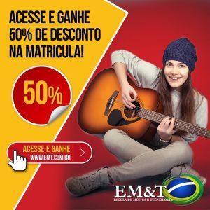 Quer 50% de desconto na matrícula para estudar na EM&T?