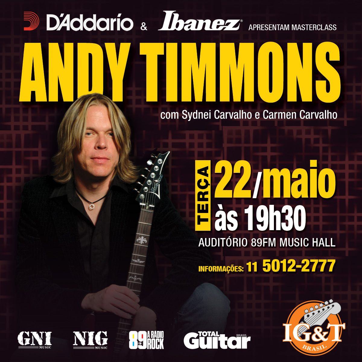 Masterclass Andy Timmons na EM&T