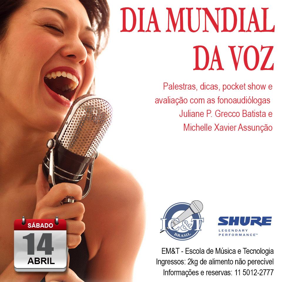 Dia Mundial da Voz: palestras, dicas, avaliação fonoaudiológica