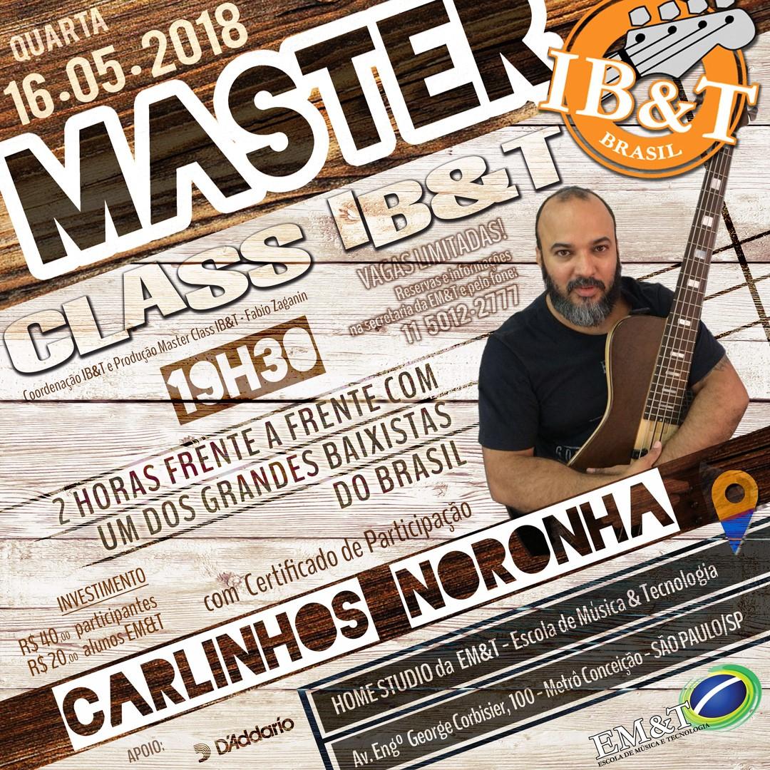 Masterclass Carlinhos Noronha: imperdível