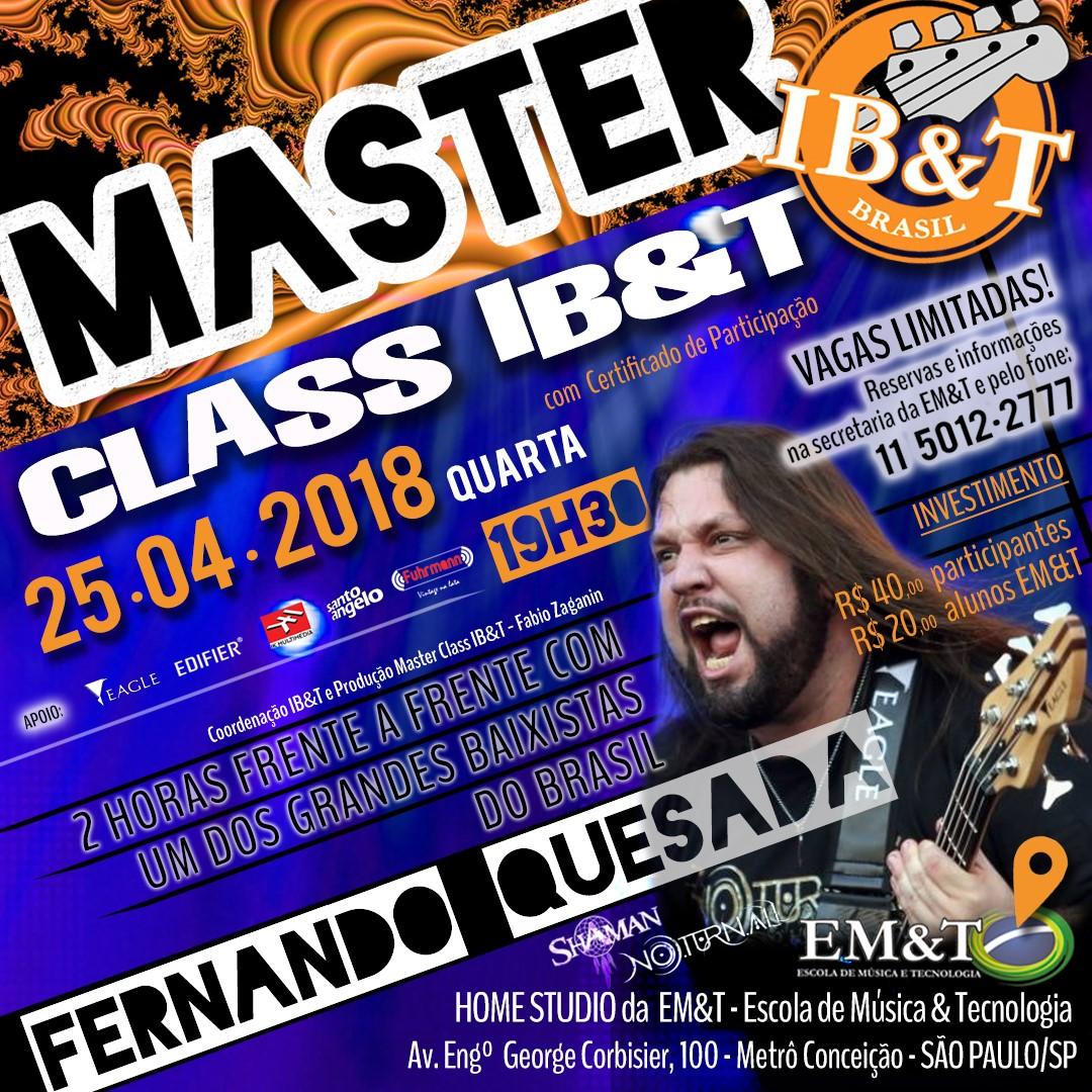 Masterclass Fernando Quesada - 2 horas com o baixista