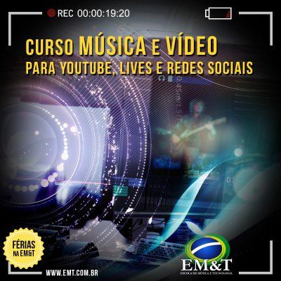 Música e Vídeo para YouTube, Lives e redes sociais