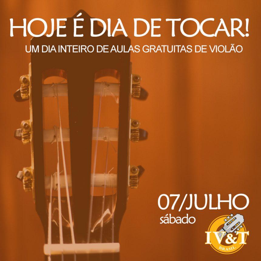 Hoje é dia de tocar violão