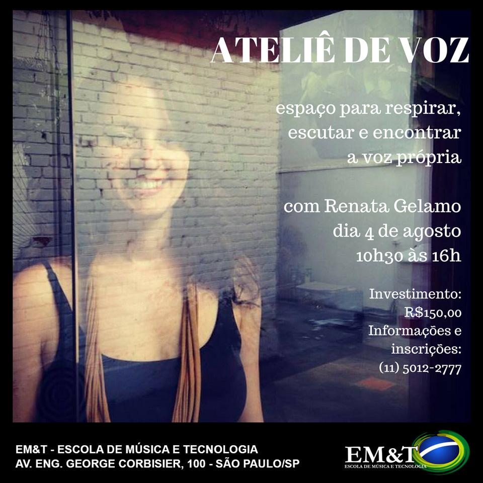 Ateliê de Voz com a Renata Gelamo