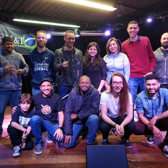Audição de alunos de bateria do prof. Douglas Maiochi, julho de 2018