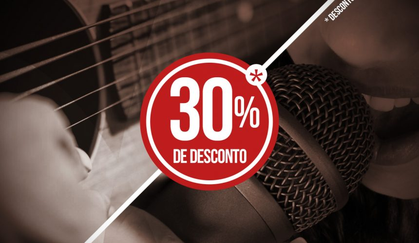 Tudo Junto & Misturado: Violão + Canto com 30% de desconto