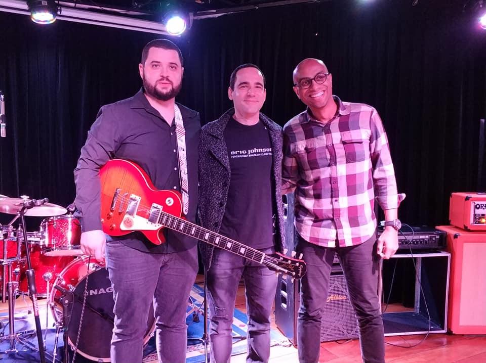 Formandos em guitarra: Clayton Rodrigues e Vitor Hugo Dadona