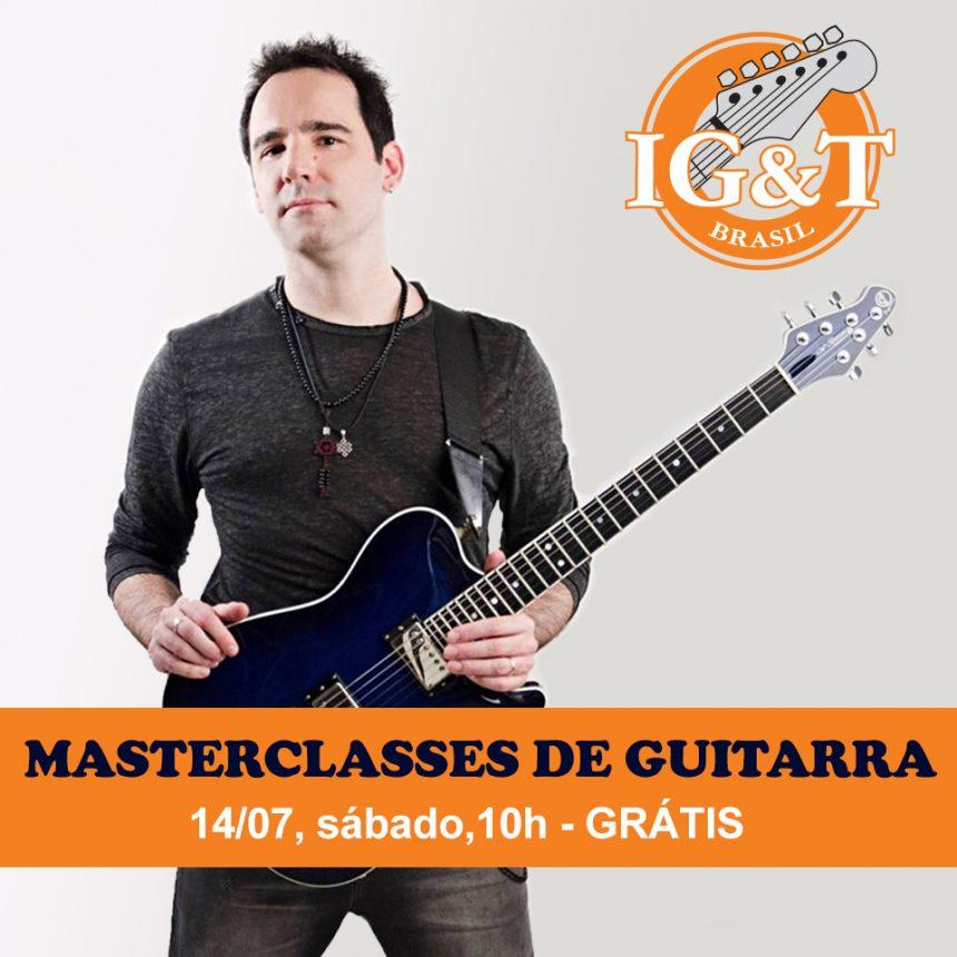 Masterclasses gratuitas de guitarra no IG&T