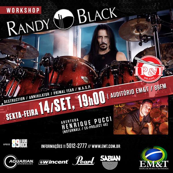 RANDY BLACK na EM&T em setembro!