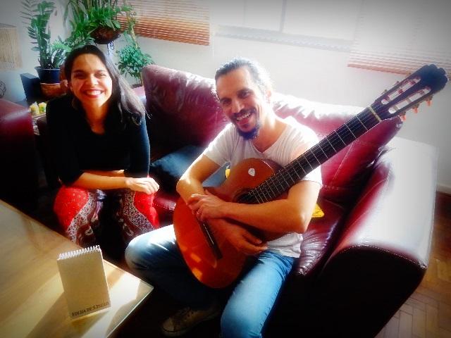 Carol Andrade e Alex Maia: Professores em ação