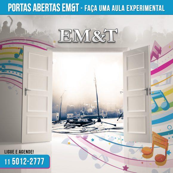 Quer fazer uma aula experimental totalmente gratuita na EM&T?