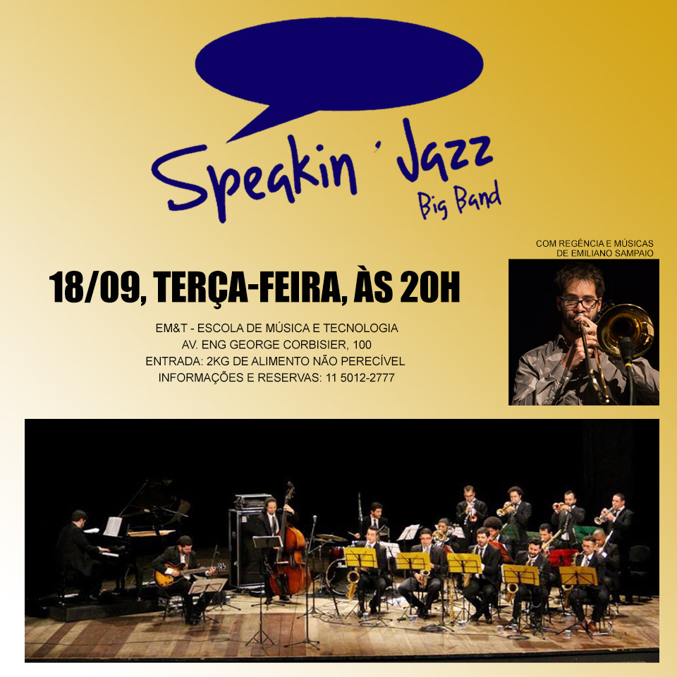 Emiliano Sampaio & Speaking Jazz Big Band na EM&T
