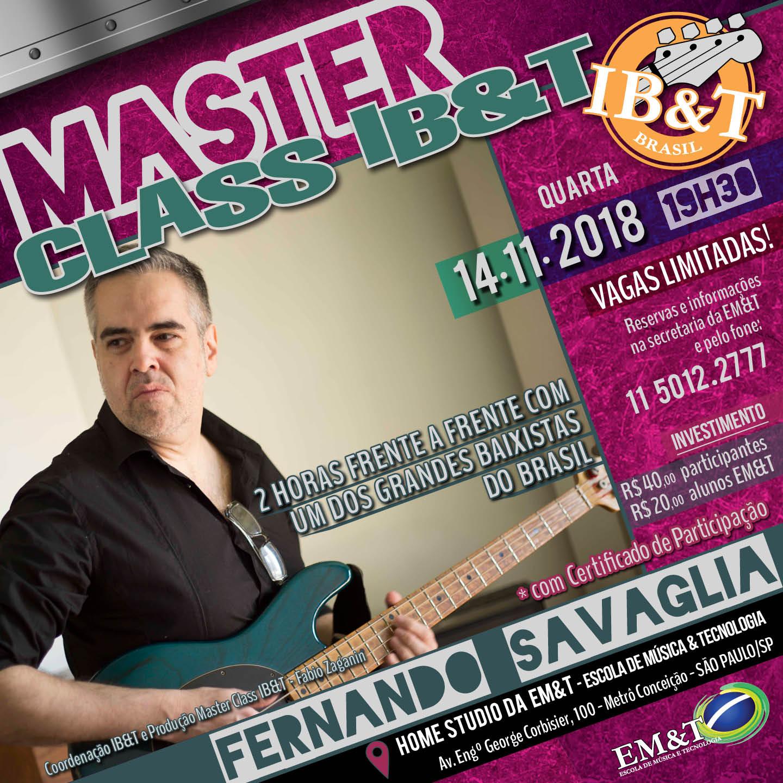 Fernando Savaglia realiza masterclass na EM&T