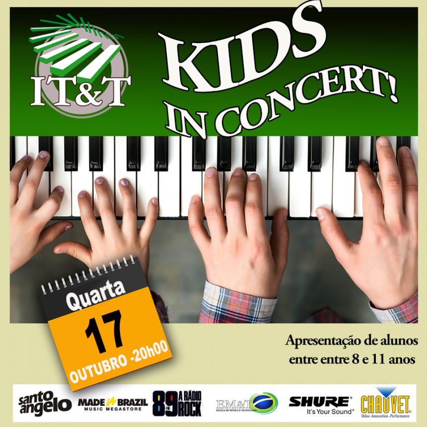 Kids in Concert: alunos de teclado no palco