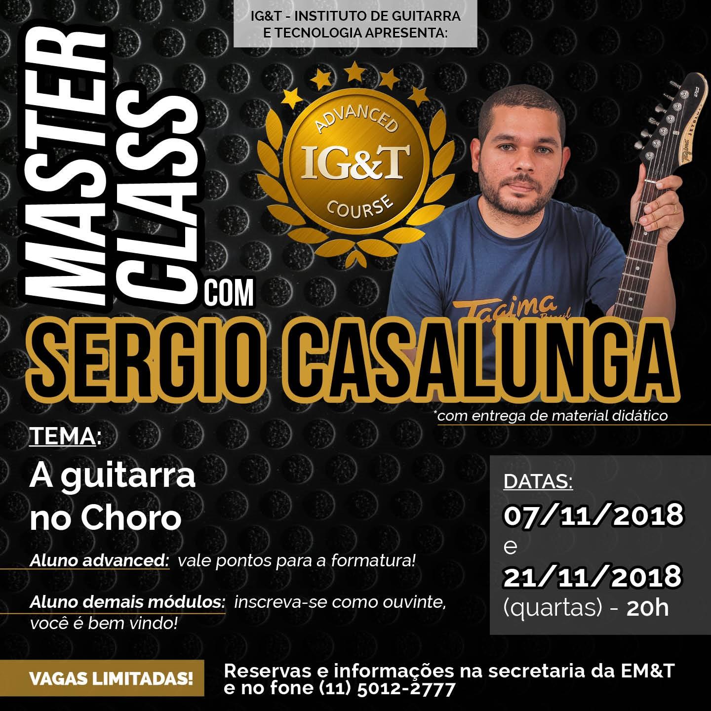 A guitarra no Choro: masterclass com Sergio Casalunga