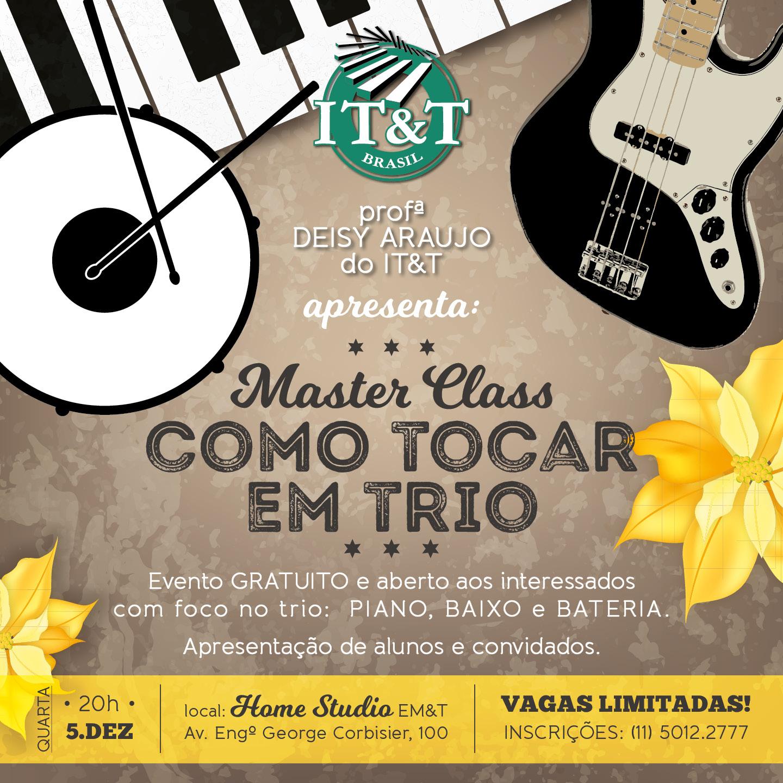 """Masterclass de teclado: """"Como tocar em trio"""", com Deisy Araujo"""