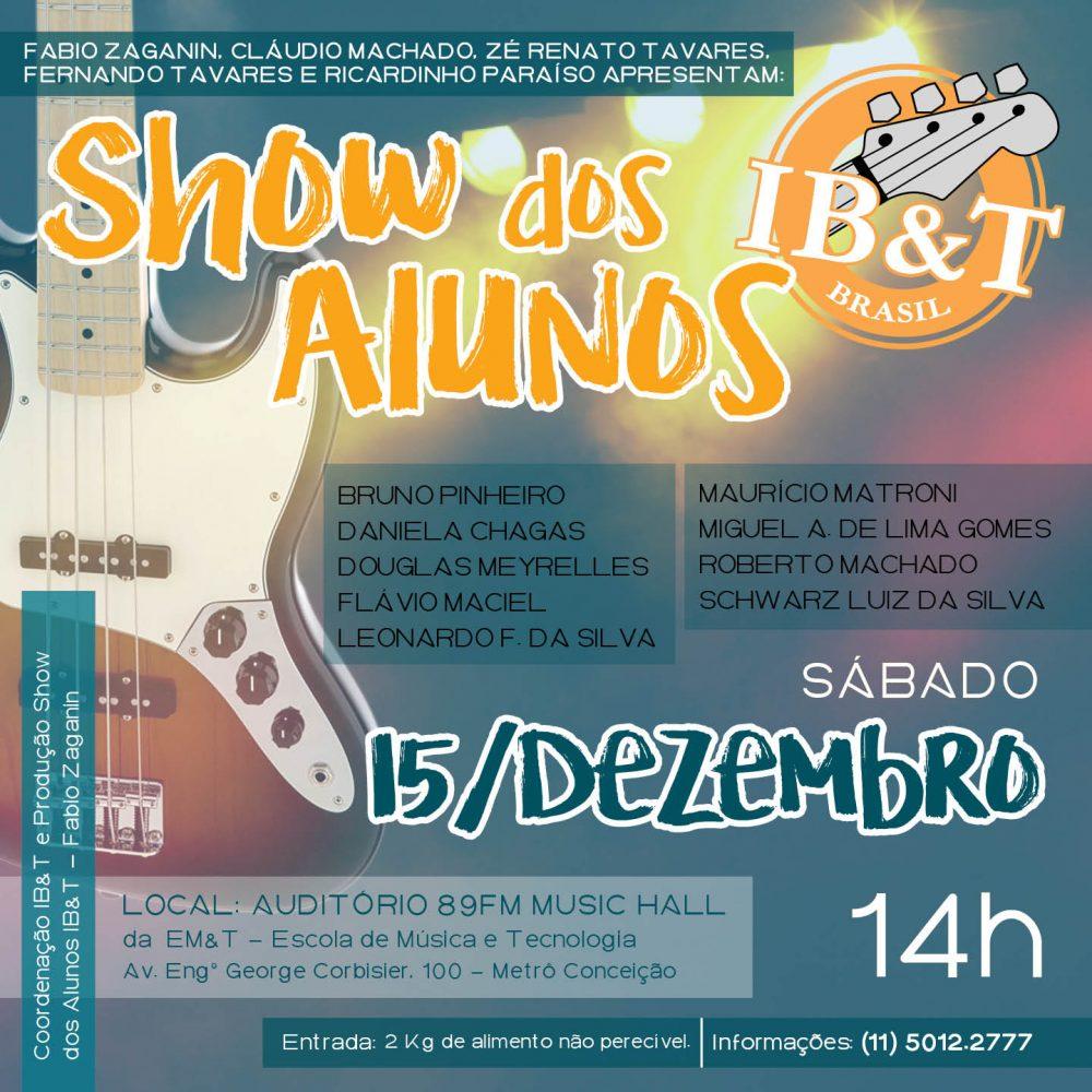 Show dos Alunos IB&T - 2º Semestre 2018