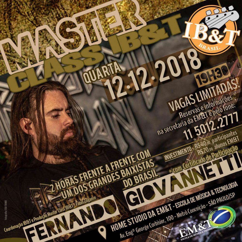 Masterclass Fernando Giovannetti no IB&T
