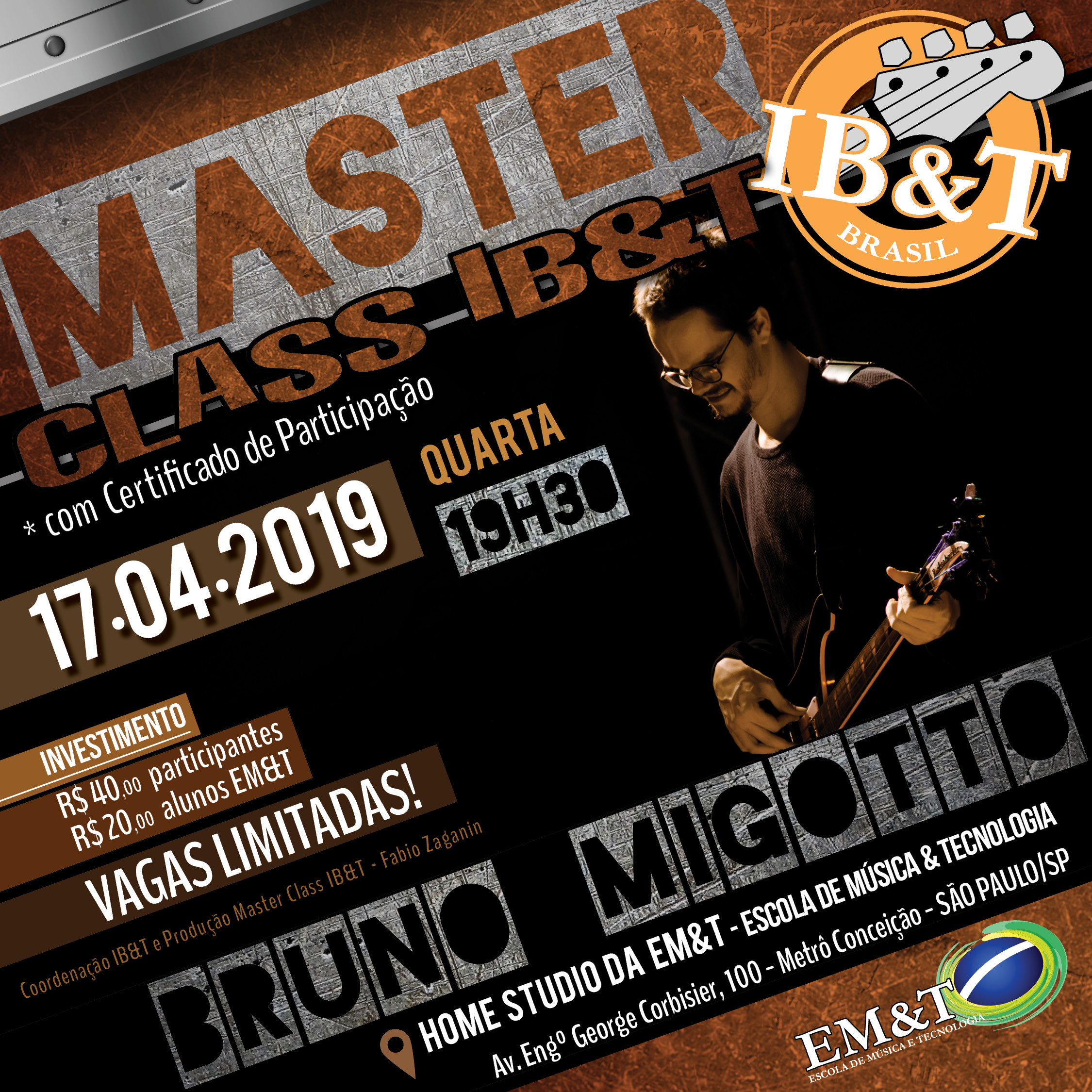 Masterclass Bruno Migoto na EM&T 2019.