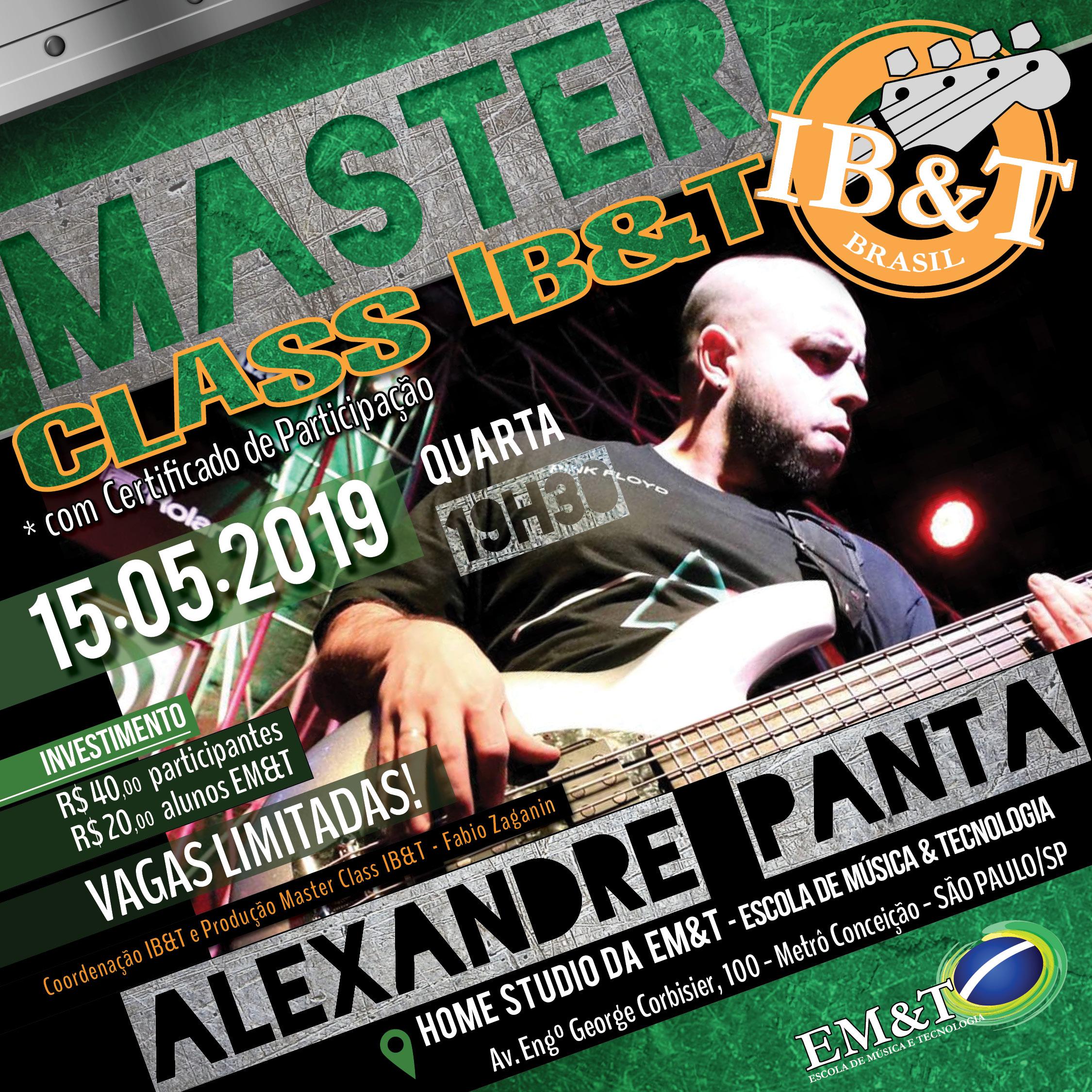 Alexandre Panta realiza Masterclass na EM&T.