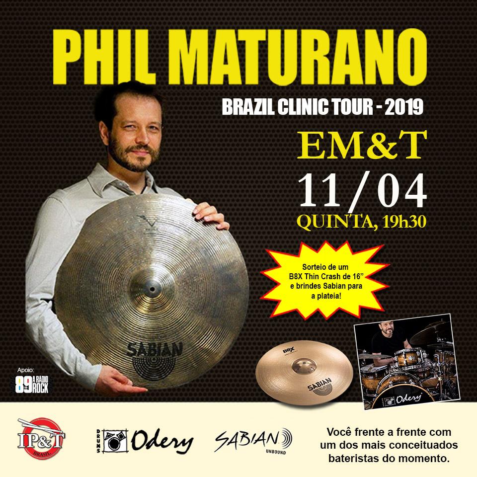 PHIL MATURANO - Brazil Clinic Tour 2019 na EM&T