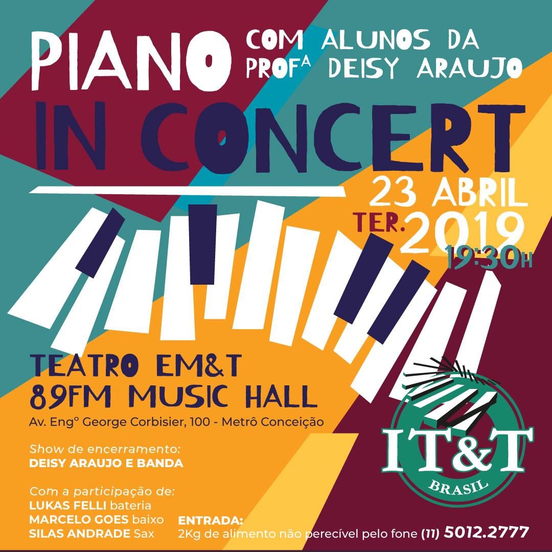 Piano in Concert - alunos da prof. Deisy Araujo