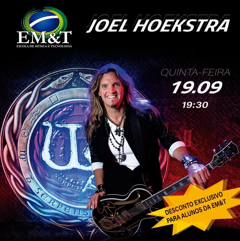 Joel Hoekstra: Guitarrista faz workshop exclusivo na EM&T