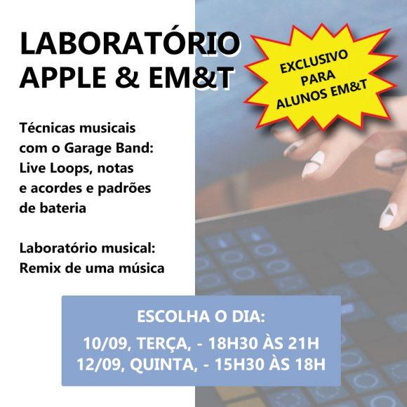 Laboratório Apple & EM&T: Inscreva-se para participar