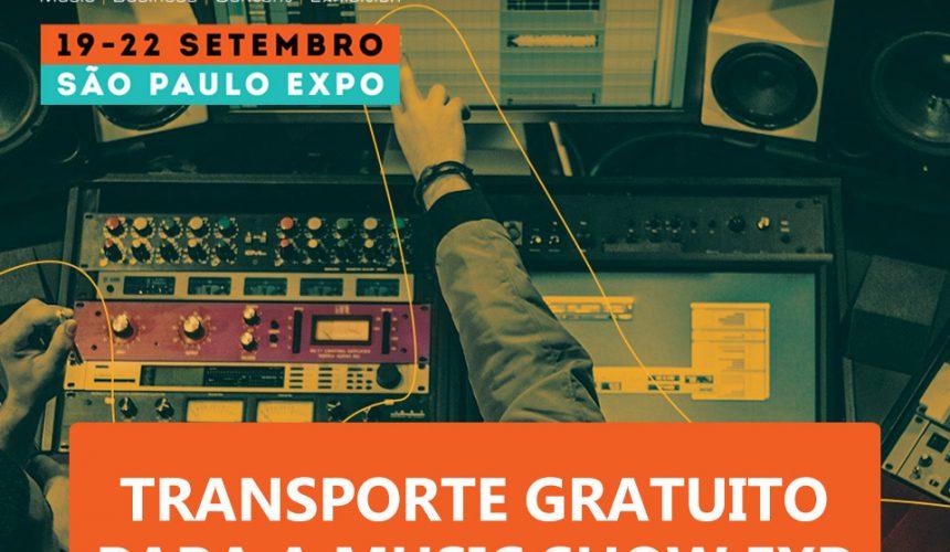 Transporte gratuito para a Music Show 2019