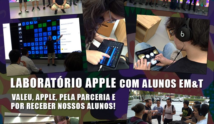 Laboratório Apple com alunos EM&T