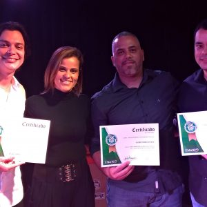 Lucas Serra, Kleber Sena e Thiago Soares: Formatura de Teclado na EM&T