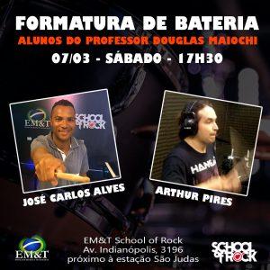 Formatura de bateria: José Carlos Alves e Arthur Pires