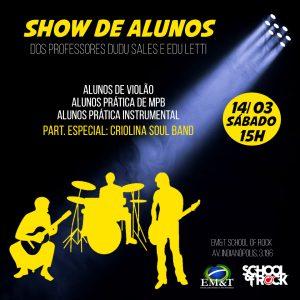 ADIADO: Show das turmas de violão e práticas de banda